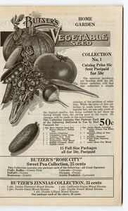 00 1931 Vintage Butzer's Seeds Catalogue