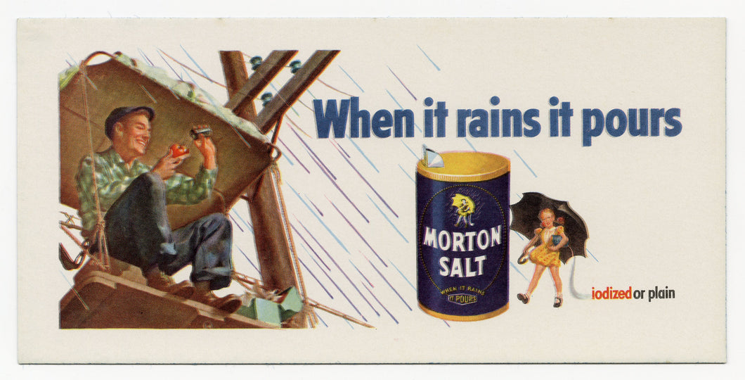 Vintage, Unused MORTON SALT Blotter
