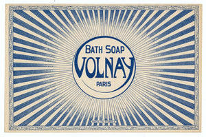 Vintage, Unused, French Art Deco VOLNAY Bath Soap Box Label, Paris
