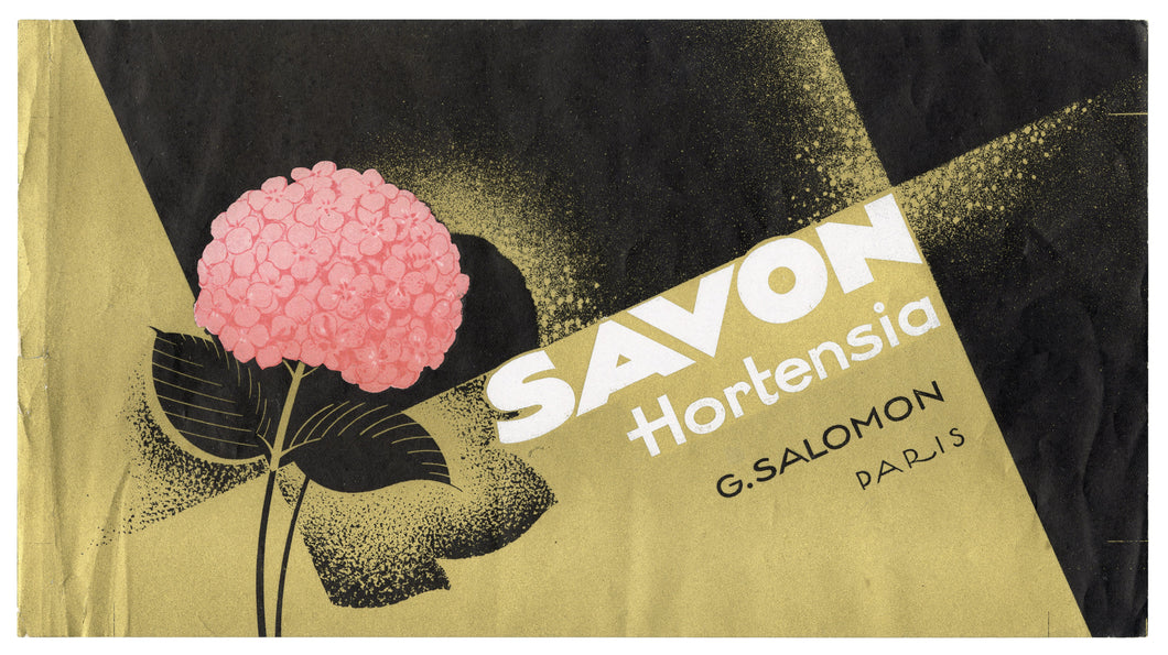 Vintage, Unused, French SAVON HORTENSIA Soap Box Label,Paris