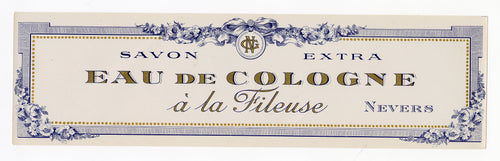 Vintage, Unused, French Art Deco EAU DE COLOGNE A LA FILEUSE Soap Box Label