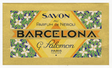Load image into Gallery viewer, Vintage, Unused, French Art Deco PARFUM DE NEROLI BARCELONA Soap Box Label Set