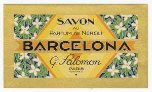 Vintage, Unused, French Art Deco PARFUM DE NEROLI BARCELONA Soap Box Label Set