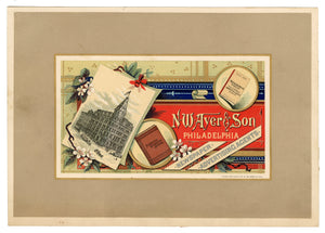 Antique N.W. AYER & SON, Newspaper, Advertising Agents Printed Business Card on Card Stock