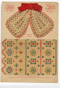 1884 Antimacassar Embroidered Lace Work Design Pattern, Supplement to Young Ladies Journal