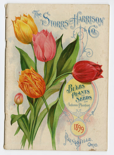 1899 Antique Storrs & Harrison BULBS, PLANTS, and SEEDS CATALOG, Painesville, Ohio