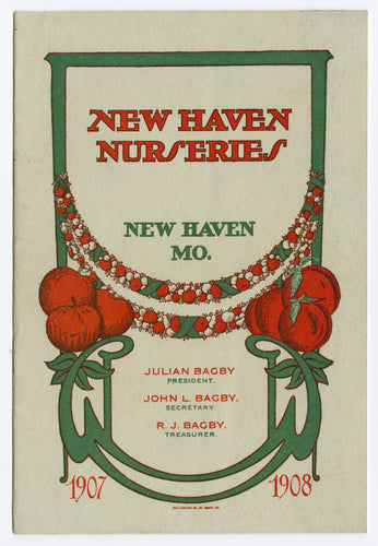 1907-1908 NEW HAVEN NURSERIES Seed, Plant, Flower, Farming Catalog