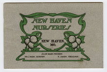 Load image into Gallery viewer, 1904 Antique NEW HAVEN NURSERIES Seed Catalog, New Haven, Mo, Gardening, Farming
