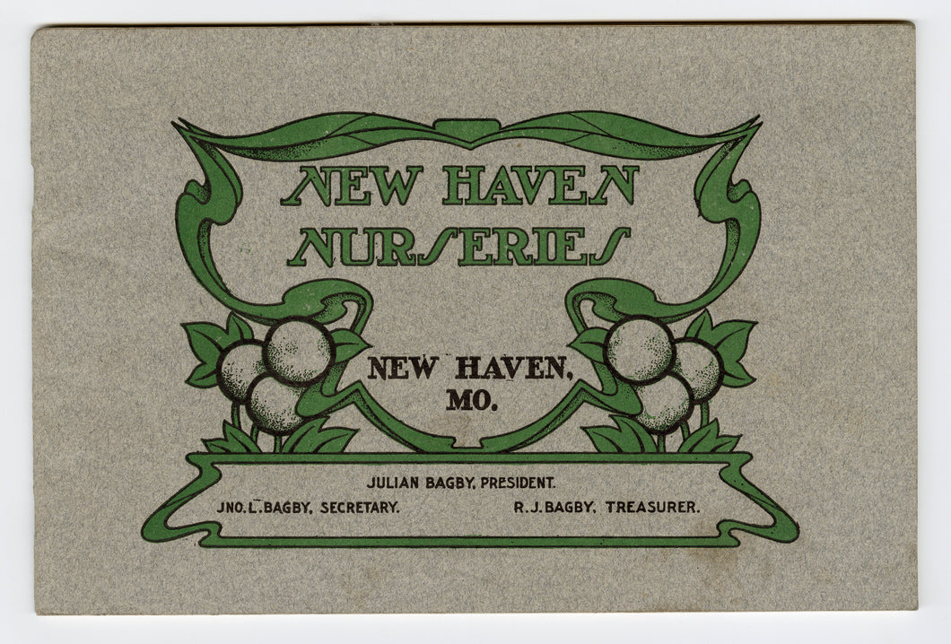 1904 Antique NEW HAVEN NURSERIES Seed Catalog, New Haven, Mo, Gardening, Farming