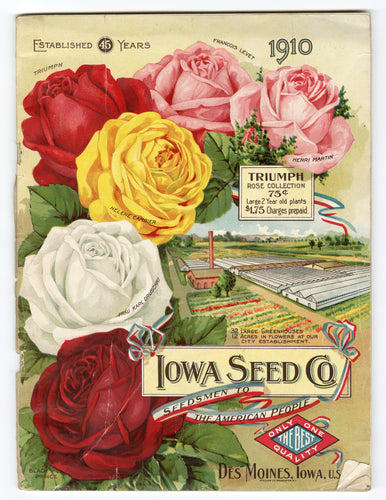 1910 Antique IOWA SEED Co. Seed Catalog, Des Moines, Gardening, Farming, Flowers
