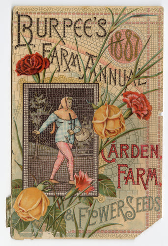 1887 BURPEE'S FARM ANNUAL, Garden, Farm, Flower Seed Catalogue