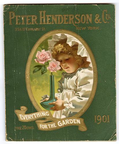 1901 Antique PETER HENDERSON Seed Catalog, Gardening, Farming, Plants, Flowers