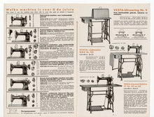 Load image into Gallery viewer, Vintage 1920s-1930s Dutch VESTA SEWING MACHINE Fold Out Eight Page Advertisement Brochure