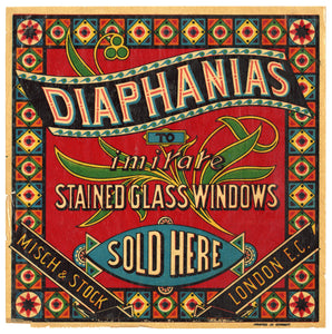 Antique, Unused DIAPHANIAS Stained Glass Windows Store Window Display, Art Deco