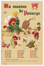 Load image into Gallery viewer, Vintage 1952 Raunchy French AU MOUTON DE PANURGE Albert DUBOUT Illustrated Supper Club Menu