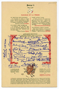 Vintage 1952 Raunchy French AU MOUTON DE PANURGE Albert DUBOUT Illustrated Supper Club Menu