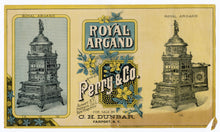 Load image into Gallery viewer, Victorian ROYAL ARGAND Oven & Parlor Furnace Paper Advertisement || Perry & Co.