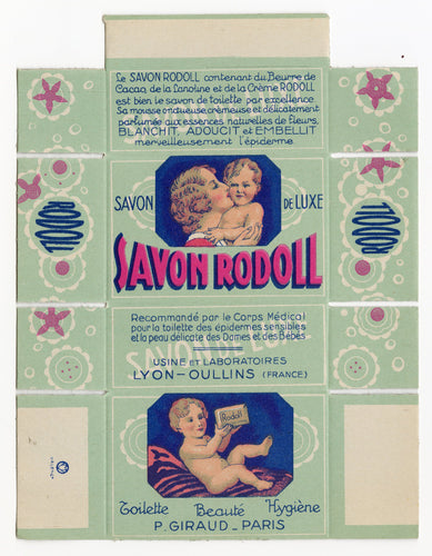 Vintage, Unused, French 1920's SAVON RODOLL Soap Package, Mother & Baby