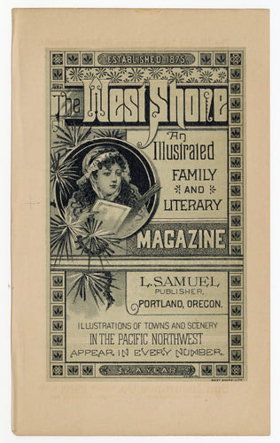 Antique Victorian WEST SHORE LITERARY MAGAZINE Double-Sided Advertisement