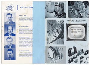 Vintage 1954 Television Electronics Fund Annual Report, Midcentury Modern Design