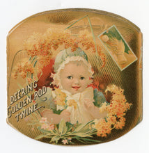 Load image into Gallery viewer, Antique Victorian DEERING BINDER TWINE Die-cut, Four Panel Trade Card Booklet