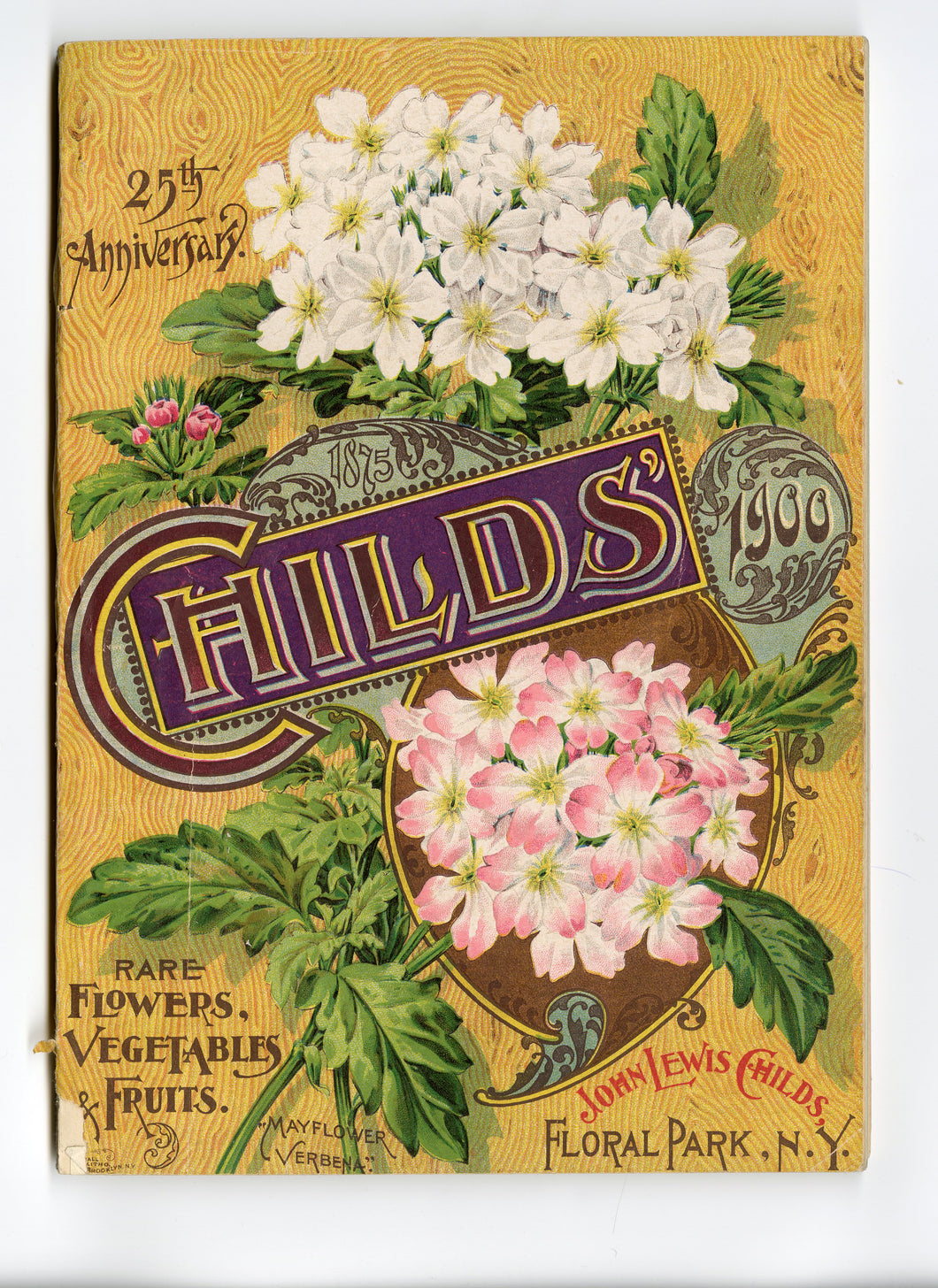 1900 Antique CHILDS' SEED CATALOG, Floral Park, NY, Garden, Farm, Flowers