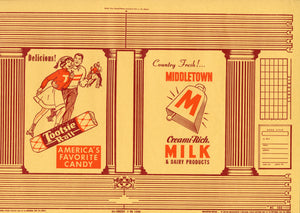 TOOTSIE ROLL Promotional School Book Cover, America's Favorite Candy || Middletown Milk