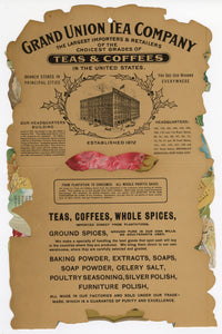 Hanging Grand Union Tea Company illustrated Calendar || Coffee, Vintage