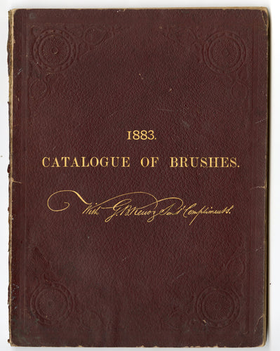 1883 Antique CATALOGUE OF BRUSHES, Painting, Grooming, Commercial