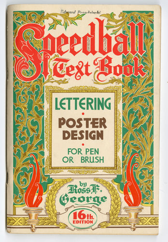 1952 Vintage SPEEDBALL TEXT BOOK, Poster Design, Lettering, Typography