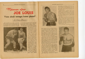 1950 March REKORD MAGAZINE, German Boxing, Sports, Joe Louis, Jack Gardner