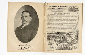 1907 Antique G.G. GREEN'S ALMANAC, Promotional Information Book