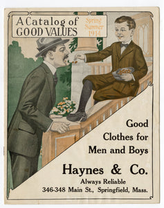 1914 A CATALOG OF GOOD VALUES, Edwardian Men's, Kids Fashion, Clothing