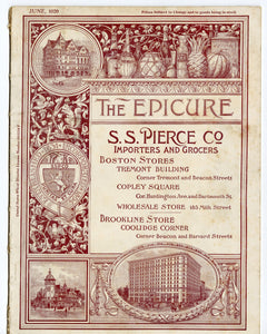 1920 June THE EPICURE MAGAZINE, S.S. Pierce & Co., Food and Dining