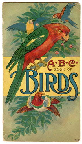 1916 THE ABC BOOK OF BIRDS Children's Alphabet Book, Will F. Stecher