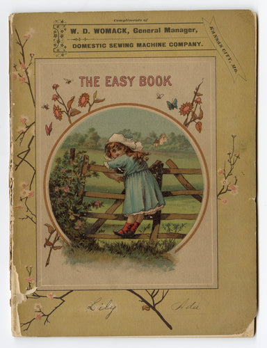 Victorian THE EASY BOOK FOR CHILDREN, Domestic Sewing Machine Co. Promotion