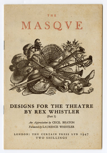 1947 THE MASQUE, Designs for the Theater by Rex Whistler Book I