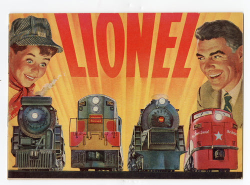 1954 Color LIONEL MODEL TRAIN CATALOG, Children's Toy Railroad