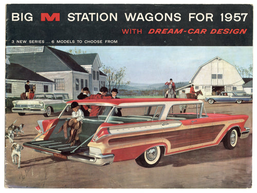 1957 Mercury BIG M STATION WAGON CATALOG, Illustrated Mid-Century Car Brochure