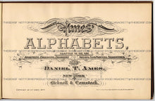 Load image into Gallery viewer, 1879 Antique AMES' ALPHABETS Full Book PDF, Typography, Lettering, Design