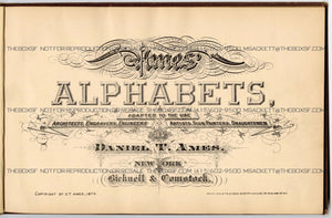 1879 Antique AMES' ALPHABETS Full Book PDF, Typography, Lettering, Design