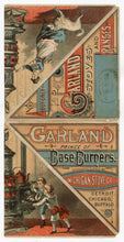 Load image into Gallery viewer, Antique Victorian GARLAND STOVES & RANGES Fold-out Triangular Trade Card, Cat, Dog