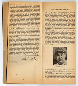 1944 KINGS OF THE MOUND Pitcher's Rating Manual 1894-1944, Major League Baseball