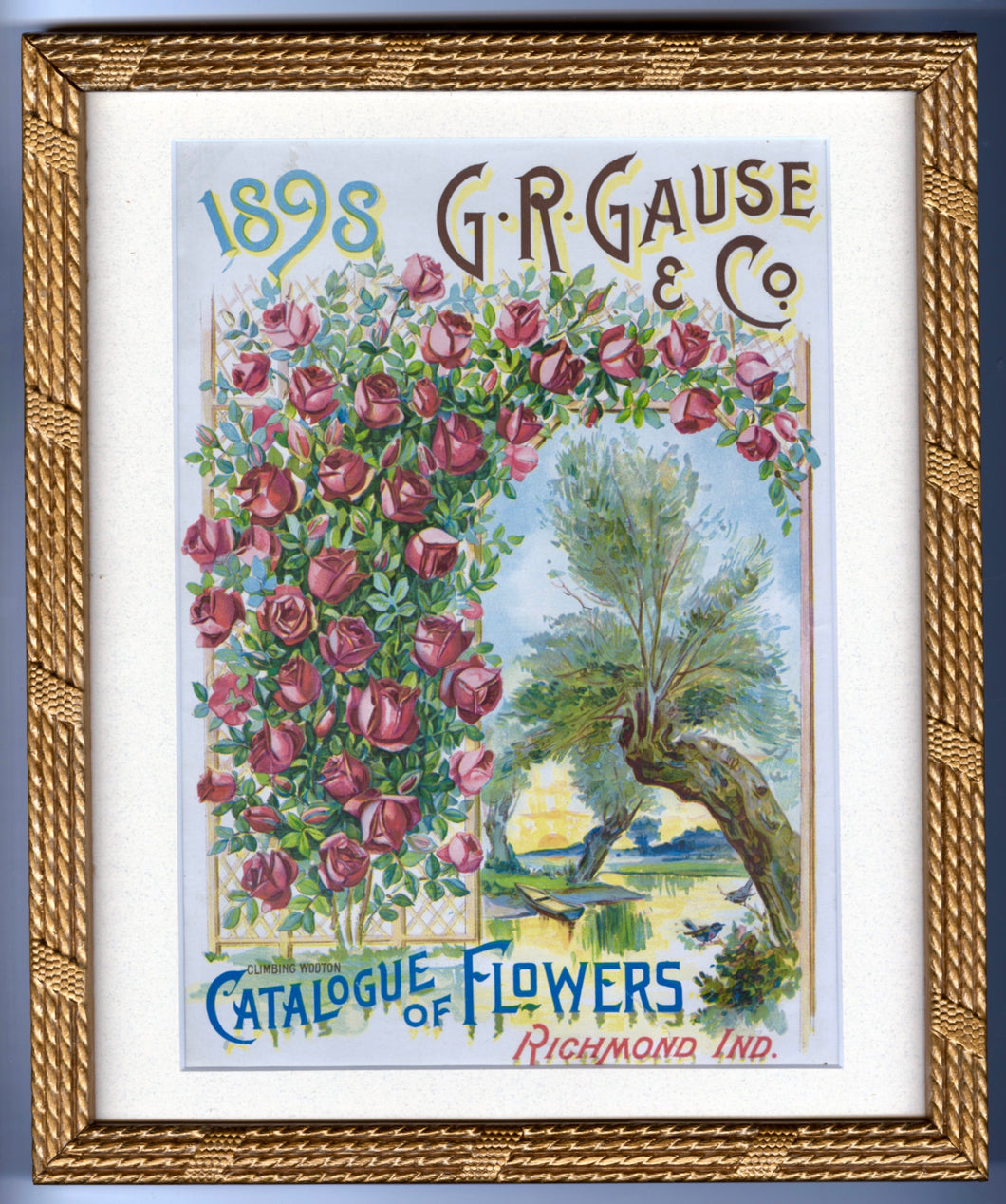 1898 G.R. Gause & Co. CATALOGUE OF FLOWERS || Framed Magazine