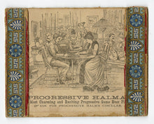 Load image into Gallery viewer, 1888 Antique HALMA Checkerboard Game, Victorian Graphics, Full Game