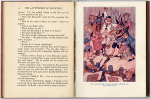 1911 PINOCCHIO: TALE OF A PUPPET Illustrated Children's Book, Charles Folkard