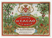 Load image into Gallery viewer, Antique, Unused CREME DE CACAO LABEL, Three Styles, Liqueur, Alcohol