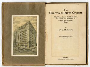1928 THE CHARMS OF NEW ORLEANS Travel Book, Autochrome, Mardi Gras