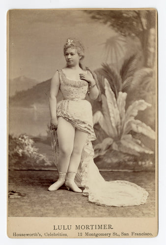 1880's Actress Performer LULU MORTIMER CABINET CARD, Houseworth's Souvenir Photos, San Francisco