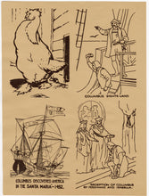 Load image into Gallery viewer, 1942 Antique MARCH OF PROGRESS Art Education, Print Set, Children's Game